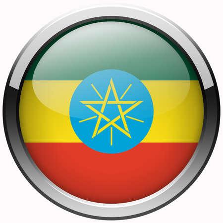 ethiopia flag: ethiopia flag gel metal button