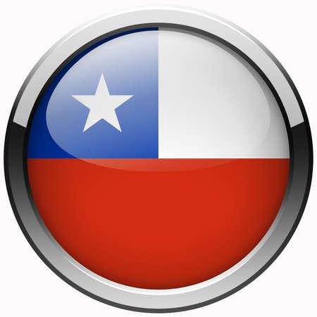 bandera chile: Chile bot�n de metal gel bandera