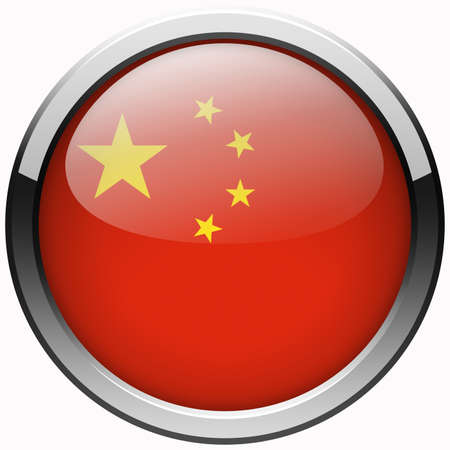 china flag gel metal button photo