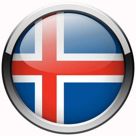 flag of iceland: islandia bot�n de metal gel bandera
