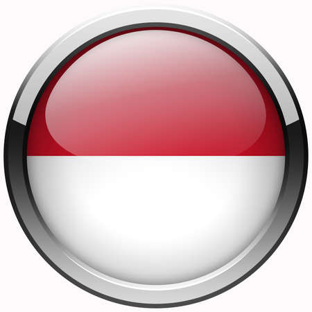 indonesia flag gel metal button photo
