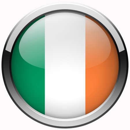 ireland flag gel metal button photo