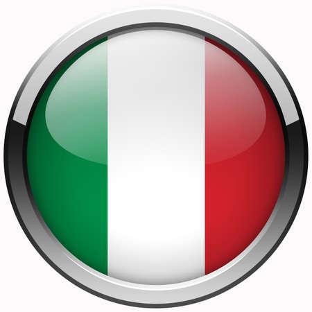 flaga włoch: Przycisk Flaga Włochy metalu żel