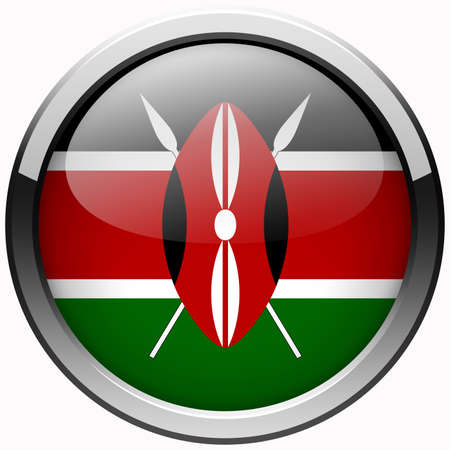 kenya flag gel metal button photo