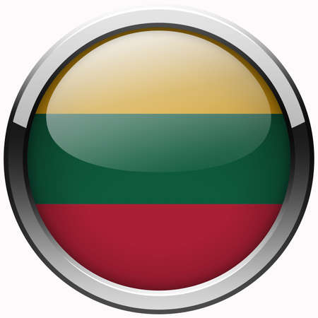 lithuania flag: lithuania flag gel metal button