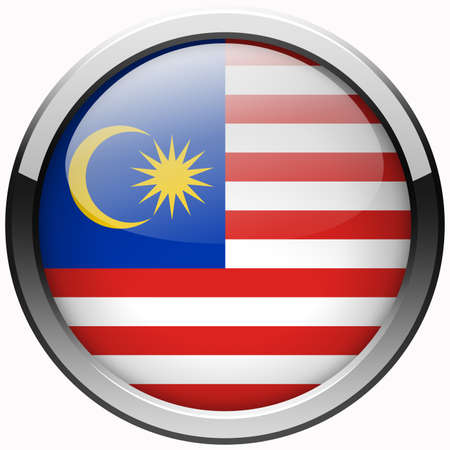 malaysia flag gel metal button photo