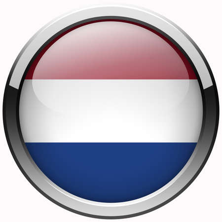 netherlands flag gel metal button photo