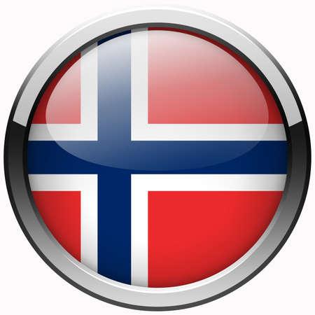 norway flag gel metal button photo