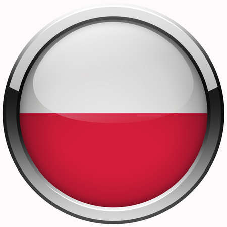 poland flag gel metal button photo