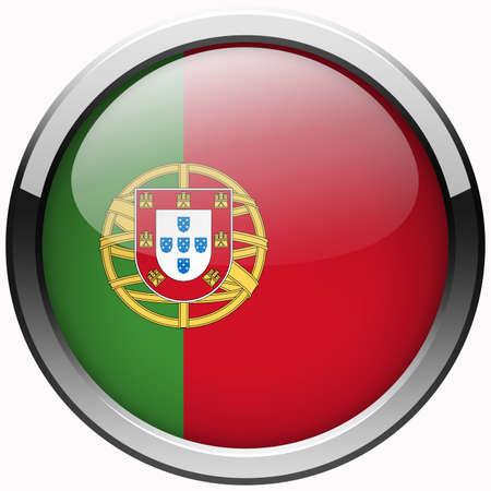 drapeau portugal: portugal drapeau bouton en m�tal gel