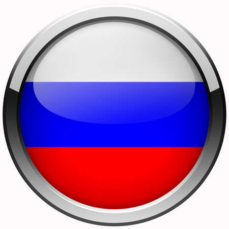 russia flag gel metal button photo