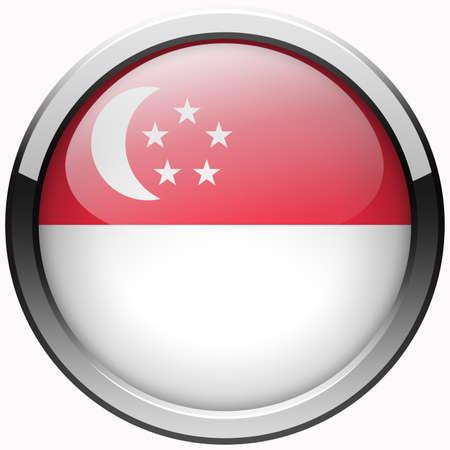 Кнопки: металлические кнопки флаг гель Сингапур