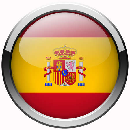 spain flag gel metal button photo
