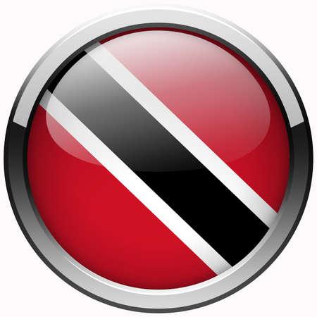 trinidad: trinidad and tobago flag gel metal button