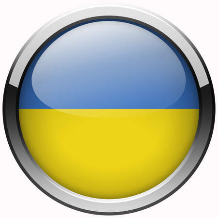 ukraine flag gel metal button photo