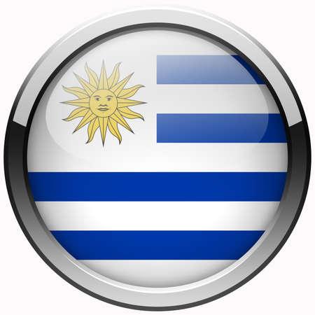 uruguay flag: uruguay flag gel metal button
