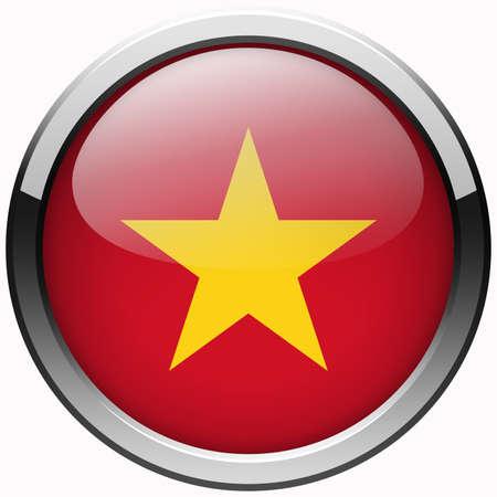 vietnam flag gel metal button photo