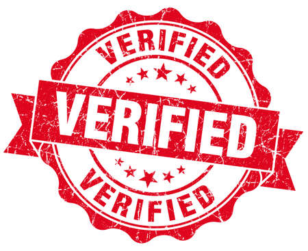 acceptation: Verified Grunge Stamp