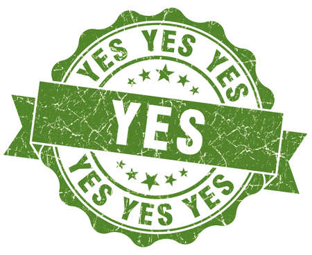 certainty: Yes Grunge Stamp