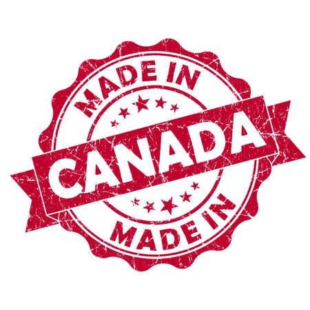 made in canada grunge seal photo