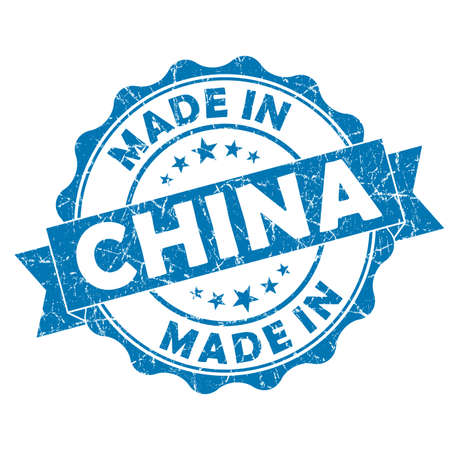 made in china grunge seal Stock Photo