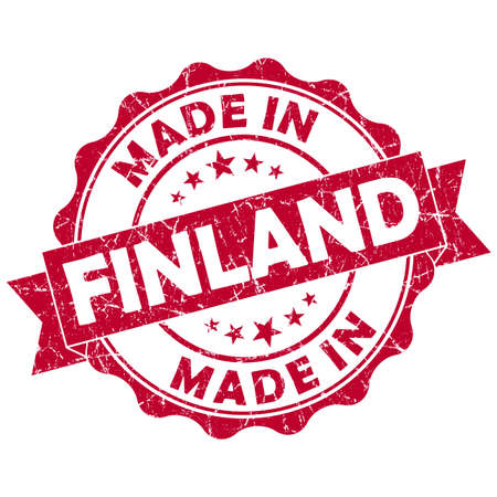 made in finland: made in finland grunge seal Stock Photo