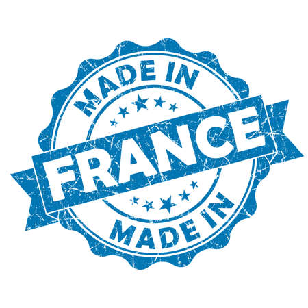 made in france grunge seal photo