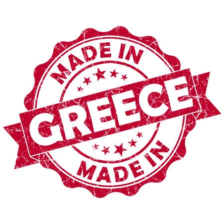 made in greece stamp: made in greece grunge seal