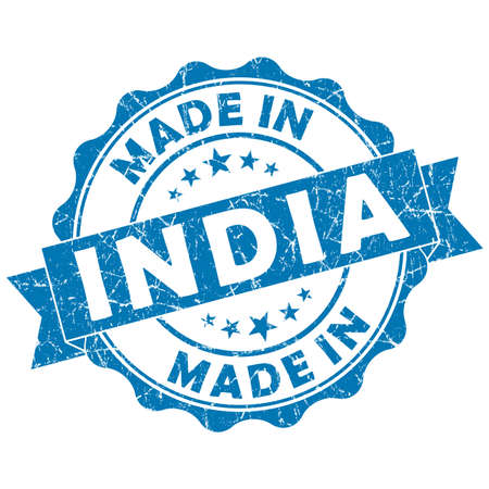 made in india grunge seal photo