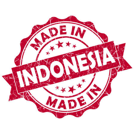 made in indonesia grunge seal photo