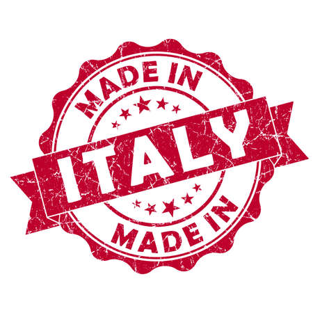 made in italy grunge seal photo