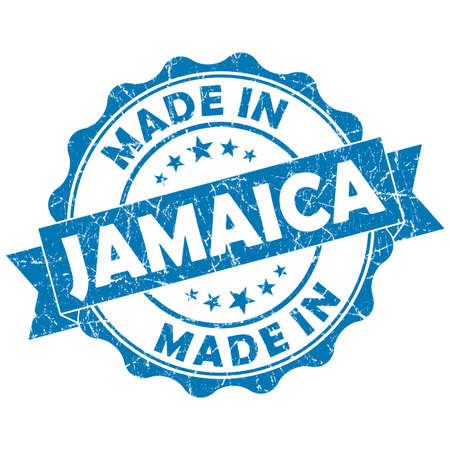 made in jamaica grunge seal photo