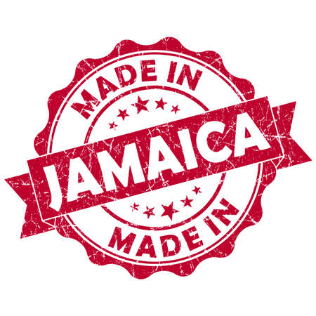 made in jamaica grunge seal Stock Photo - 22615210
