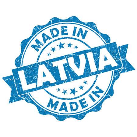 latvia: made in latvia grunge seal