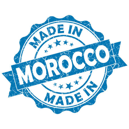 made in morocco: made in morocco grunge seal