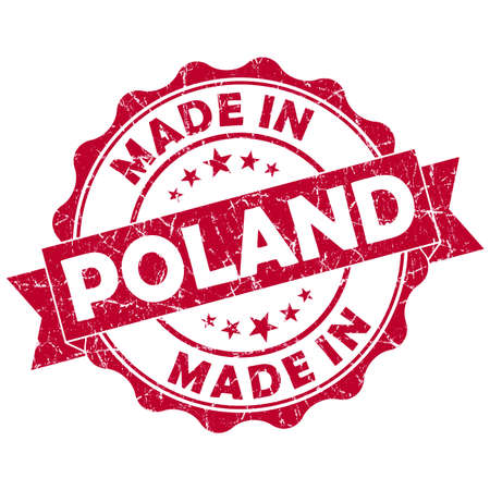made in poland grunge seal photo