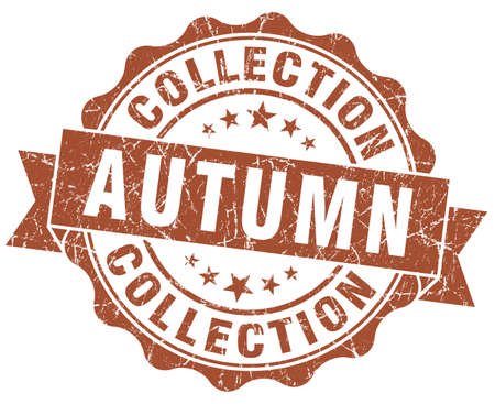 autumn collection brown grunge stamp photo