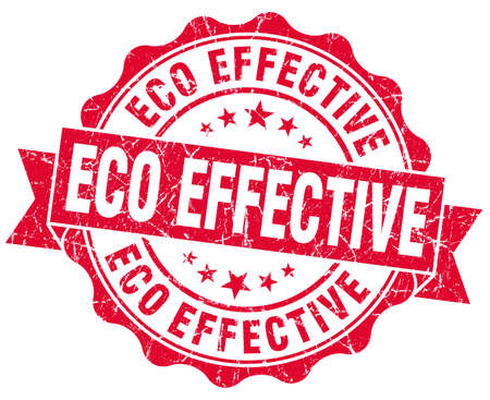 eco effective red grunge stamp Imagens