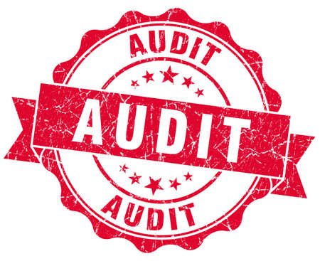 audit red grunge stamp Stock Photo