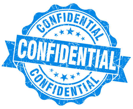 confidentiality: confidential blue grunge stamp Stock Photo