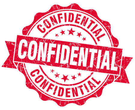 confidential red grunge stamp photo