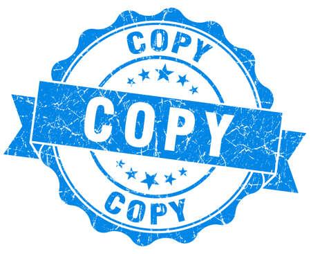 replicated: copy blue grunge stamp