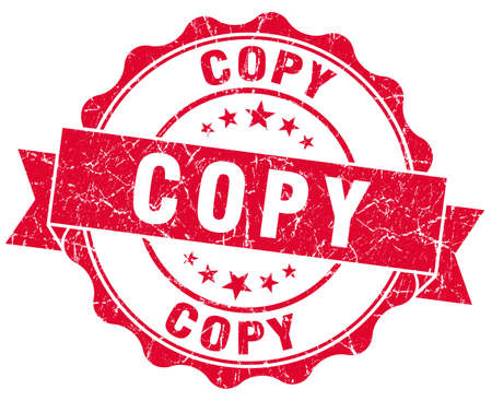 copy red grunge stamp Stock Photo