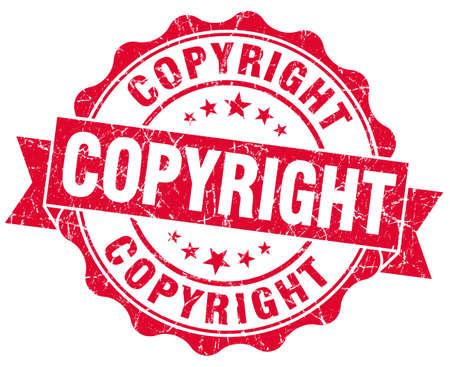 copyright red grunge stamp photo