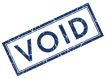 void: Void square grunge blue stamp Stock Photo