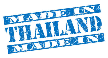 made in Thailand grunge blue stamp photo