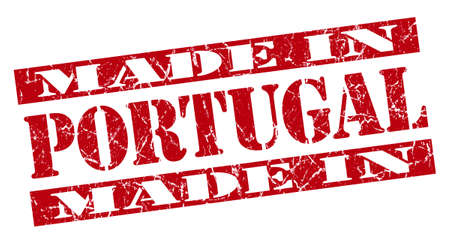 made in Portugal grunge red stamp photo