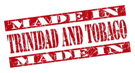 made in Trinidad And Tobago grunge red stamp photo