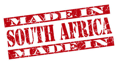 made in South Africa grunge red stamp photo