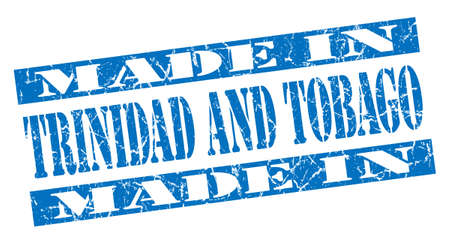 made in Trinidad And Tobago grunge blue stamp photo